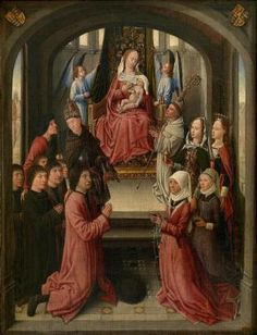 Lactatio of Saint Bernard of Clairvaux with Donors - Anonymous Master, Southern Low Countries, 4th Quarter of the 15th Century