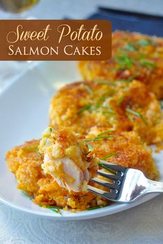 These sweet potato salmon cakes are a great use for leftover salmon and/or sweet potatoes. A creamy potato and salmonl center surrounded by crisp panko crumbs outside.