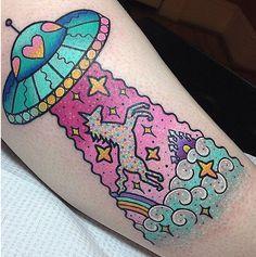 We ♥ Tatto: Pra quem é de purpurina, unicórnios, fadas e sereias - IdeaFixa