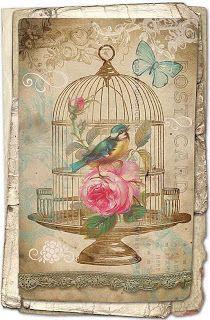 Bird and birdcage..pretty printable