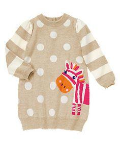 Peek-A-Boo Zebra Knit Dress