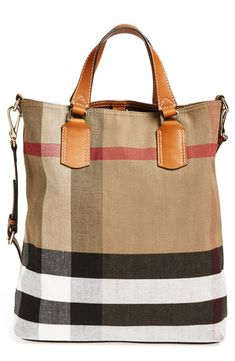 Such a great travel bag | Burberry check print bucket tote