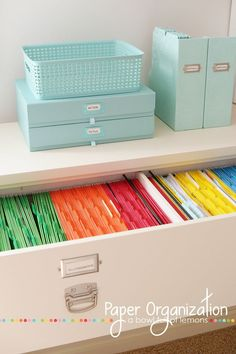 Give your filing cabinets a pop of color!