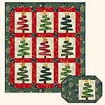Very Easy Quilt Patterns | Very Merry Christmas Trees paper pieced quilt pattern by Quilt Design ...