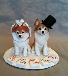 Pomeranian Chihuahua Dog Wedding Cake Topper | Flickr - Photo Sharing!