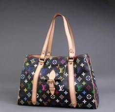 Authentic Louis Vuitton Monogram Multicolore Aurelia MM Bag