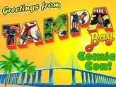 Tampa Bay Comic Con, April we will be thee make sure to stop by and say hi. Community Events, Blog Writing, Toy Boxes, Say Hi, Tampa Bay, Original Artwork, The Creator, The Neighbourhood, Comics