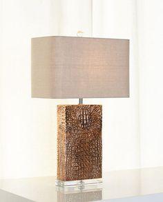 Croc-Column Lamp by Regina-Andrew Design at Horchow.