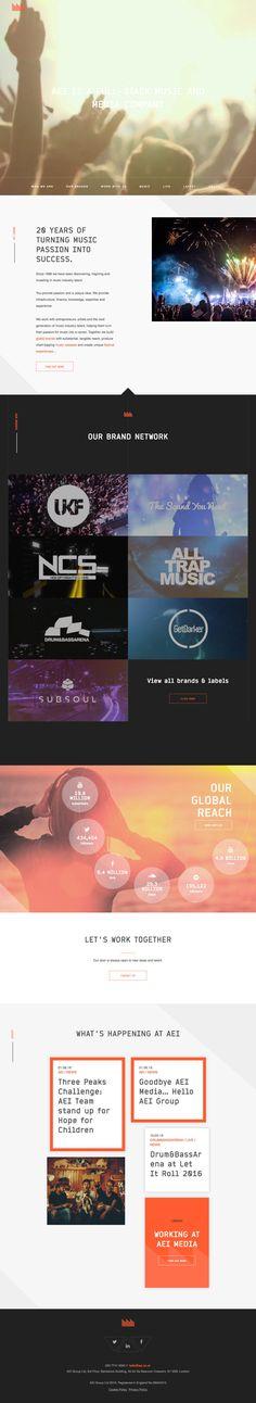 AEI (More web design inspiration at topdesigninspiration.com) #design #web…