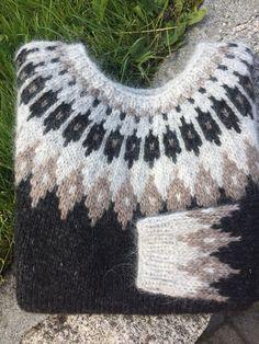 Bilderesultater for islandsgenser Knitwear, Knitting Patterns, Knit Crochet, Crochet Necklace, Crafty, Pullover, Model, Sweaters, Diy
