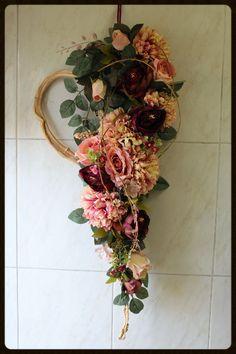 Tisch Deko Herzstück Kerze Romantik Kranz Blumen | Hochzeit Steffi |  Pinterest