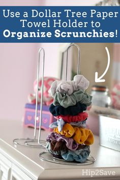 Organize Scrunchies for Just 1 Using This Dollar Tree ItemYou can find Dollar tree organization and more on our website.Organize Scrunchies for Just 1 Using This Dollar Tree Item Crafts For Teens, Diy And Crafts, Easy Crafts, Beauty Hacks That Actually Work, Organizing Hacks, Organization Ideas, Diy Hacks, Storage Hacks, Dollar Tree Organization