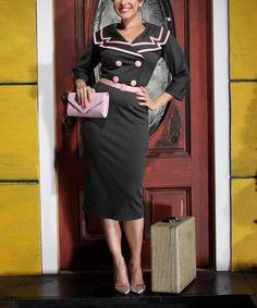 Love this Black & Light Pink Ashley Dress - Women & Plus by Tatyana on #zulily! #zulilyfinds