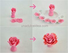 Step by step (Fondant Flower)
