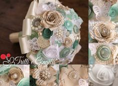bouquet shabby chic tiffany