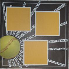 Sun and softball - Scrapbook.com