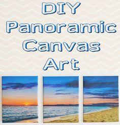 DIY Panoramic Canvas Art