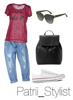 """""""streetstyle low cost"""" by patrii1989 on Polyvore featuring MANGO, ONLY, Converse and Topshop"""