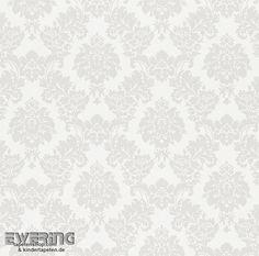 Fesselnd Rasch Sophie Charlotte 7 440546 Ornament Silber Creme Vliestapete