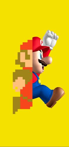 Super Mario Nintendo game that has changed drastically over the years visually as seen here. Have experienced