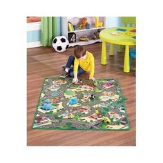 Foam Play Mat Kids Toddler Large Floor Activity Car Rug Child Road Map Truck New