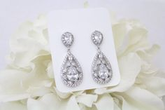 Hey, I found this really awesome Etsy listing at https://www.etsy.com/listing/261753813/crystal-bridal-earrings-teardrop-wedding