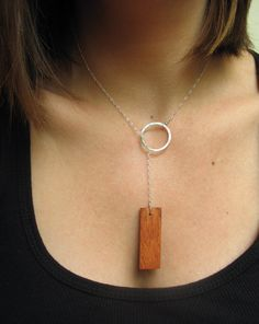 Prairie LariatKamong Wood and Sterling by girltuesdayjewelry, $35.00