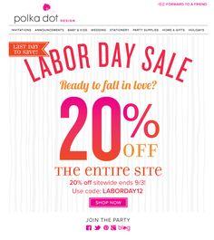 Labor Day Sale Email Blast