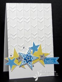 2014  Arrows Embossing Folder, Mini Merry Punch Pack, SS  Simply Stars, Perfect Pennants