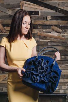 """Купить Сумка """"Индиго"""" - сумка ручной работы, сумка, сумка с декором, сумка с цветами"""