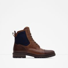 ZARA - MAN - COMBINED BOOTS WITH GRIP SOLE