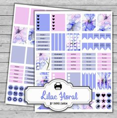 Printable Planner Stickers Printable Erin by PaperCharmShop