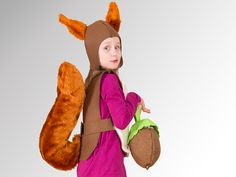 Kostüme & Verkleidung - Eichhörnchen-Kostüm - ein Designerstück von Designer-Brause bei DaWanda