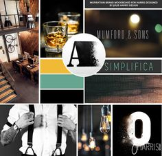 Brand Identity Inspiration Moodboard for Harris Design by Julie Harris Design