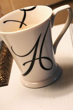 love these mugs! Alphabet Tattoo Designs, Alphabet Design, Bling Wallpaper, Name Wallpaper, Funny Snapchat Stories, Coffee Advertising, Stylish Name, H Monogram, S Love Images