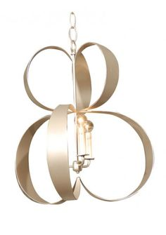 Lucille Sculptural Ribbon Chandelier