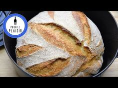 Baking German bread withou kneading / very easy / no knead bread [ENG Subtitles] - Brot backen Baking Bread At Home, German Bread, Paleo Bread, Paleo Pizza, No Knead Bread, Bread Bun, Paleo Sweets, Greek Recipes, German Recipes