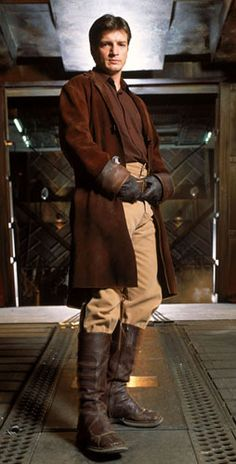 Captain Malcom Reynolds... No idea what show this is lol, but why is Castle dressed like a Jedi?