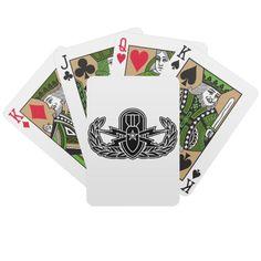 Senior EOD stencil Playing Cards