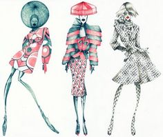 Fashion Illustration Ideas Alexander McQueen - this is the first time i ever said i like Imitation of Chirst work. i truly like the inspired body-conscioused sportswear look ( paet of Patrick. Fashion Illustration Sketches, Illustration Mode, Fashion Sketchbook, Fashion Design Sketches, Fashion Drawings, Love Fashion, Fashion Art, Fashion Models, Alexandre Mcqueen
