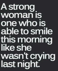 A strong woman!!!