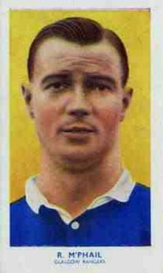 Rob McPhail of Rangers in 1934.