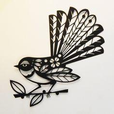 New diy paper cut stencils Ideas Diy Paper, Paper Art, Paper Crafts, Stencils, Zealand Tattoo, Bird Stencil, Nz Art, Thai Tattoo, Irezumi Tattoos