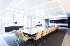 Redburn Partners on Behance. Boardroom. Large meeting room. Credenzas