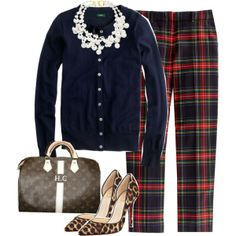 plaid and leopard!!! this I love! I want to figure out how make this work.
