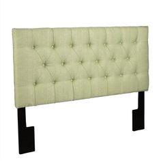 Tuxedo Green Wood Fabric Full/Queen Upholstered Headboard-4/6-5/0