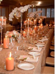 The gold tablecloth really caught my eye! Beautiful!