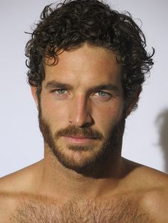 Justice Joslin - hair, eyebrows, facial hair and chest hair. Beautiful Men Faces, Gorgeous Men, Hairy Men, Bearded Men, Scruffy Men, Hair And Beard Styles, Curly Hair Styles, Justice Joslin, Handsome Faces