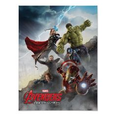 Avengers Age of Ultron Battle from the High Ground Poster