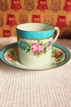 lot of 5 aynsley england bone china coffee can demitasse saucer